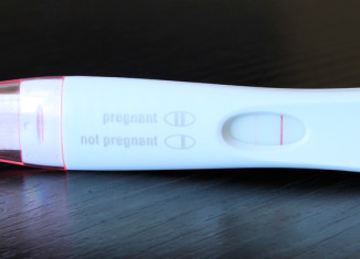 My first response pregnancy test with a faint line